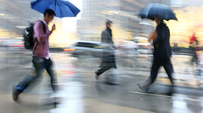 Rainy day motion blur Royalty Free Stock Photo