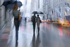 Rainy day motion blur Royalty Free Stock Photography