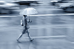 Rainy day motion blur Stock Image