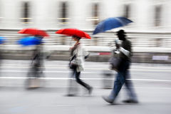 Rainy day motion blur Royalty Free Stock Image