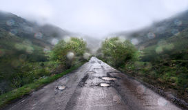 Rainy day  at mountain background Royalty Free Stock Images