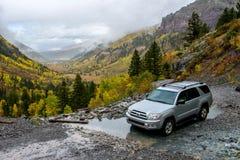 Rainy Day on Mountain Trail Stock Photos