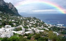 Rainy day over Capri royalty free stock images