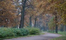 Rainy day in Park Alexandria. Russia Royalty Free Stock Image