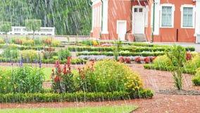 Rainy day in park of Estonia Royalty Free Stock Photos