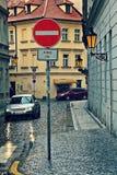 Rainy day in Prague. Stock Photo