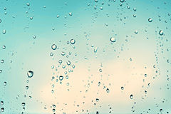 Rainy day. Rain drops on a window Royalty Free Stock Images