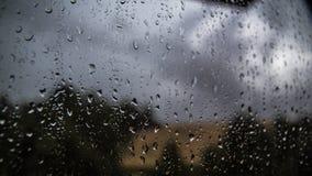 Rainy Day. Rain outside the window in Czech republic Stock Image