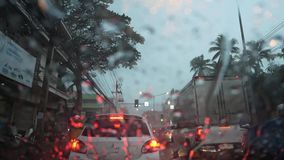 Rainy Day Rush Hour Traffic Congestion stock footage
