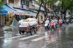 Rainy day in Saigon Royalty Free Stock Image
