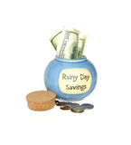 Rainy Day Savings Royalty Free Stock Photography
