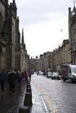 Rainy day shopping in Edinburgh Stock Images