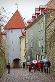 Rainy day in Tallinn, Estonia Stock Image