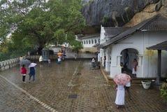 Rainy day at the temple of the sleeping Buddha. Dambulla, Sri Lanka Royalty Free Stock Photos
