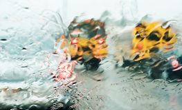 Rainy day traffic Stock Photography