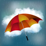 Rainy day and umbrella background Stock Photography