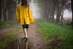 Rainy Day Walk Royalty Free Stock Photos