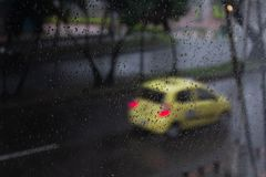 Rainy day window stock photos