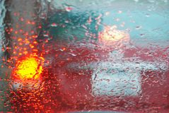 Rainy Day Windshield Stock Images