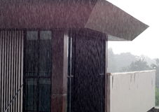 Free Rainy Day With Sunshine Foggy View Of A Modern Style Architecture Stock Photos - 74357913