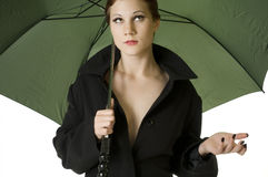 Rainy Day Woman Stock Photography