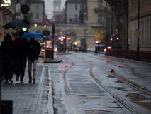 Rainy days in the city Stock Photography