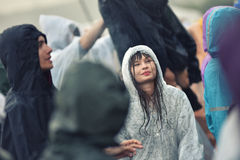 Rainy days at a music festival Stock Photography