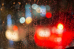 Rainy days,Rain drops on window,rainy weather,rain and bokeh Stock Image