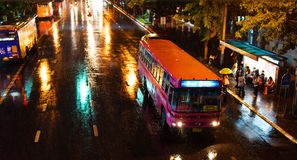 Rainy evening in Bangkok. Royalty Free Stock Photos
