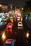 Rainy evening in Bangkok. Royalty Free Stock Photography