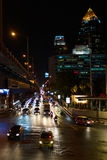 Rainy evening in Bangkok. Royalty Free Stock Photography