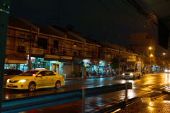 Rainy evening in Bangkok. Royalty Free Stock Image