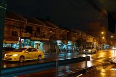 Rainy evening in Bangkok. Royalty Free Stock Image
