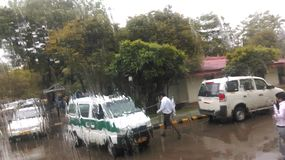 Rainy in Gurgaon. Most happening day of gurgaon Royalty Free Stock Image