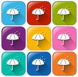 Rainy icons Royalty Free Stock Photos