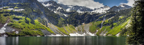 Rainy Lake Panorama Royalty Free Stock Images