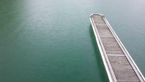 Rainy Lake. A wonderful photo of a lake while its raining royalty free stock photography