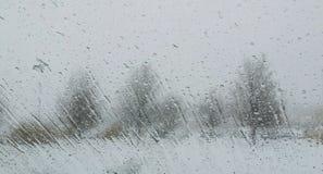 Rainy landscape Stock Images