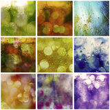 Rainy lights collage Royalty Free Stock Images