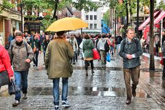 Rainy London Royalty Free Stock Images