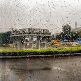 Rainy Mood. Evening has fallen with the rain royalty free stock photography