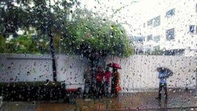 Rainy Mood 4. Rain drop moisture hearts royalty free stock image