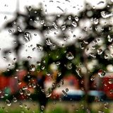 Rainy Mood 3. Snap from another side of office shuttle royalty free stock photo