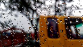 Rainy Mood 2. Snap from another side of office shuttle royalty free stock photography