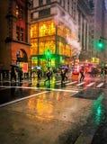 Morning Rush in Manhattan stock photos