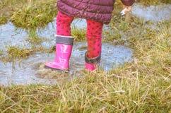 Rainy muddy puddle Royalty Free Stock Images