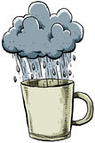 Rainy Mug Royalty Free Stock Photography