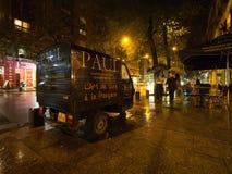 Rainy night in Bucharest Stock Photography