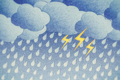 Rainy night Stock Images