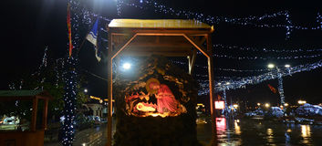 Rainy Night In Ohrid, Macedonia Stock Images